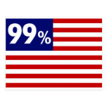 99 % American Flag - Occupy Wall Street Post Cards