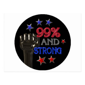 99% and Strong protest on 30 items Postcard