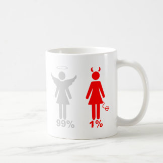 99% Angel 1% Devil Woman Coffee Mug