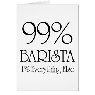 99% Barista Card