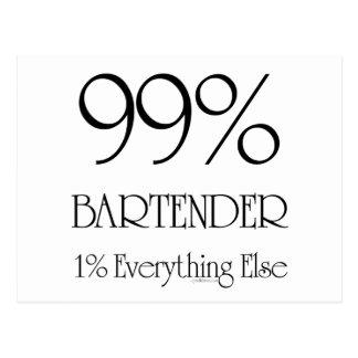 99% Bartender Postcard