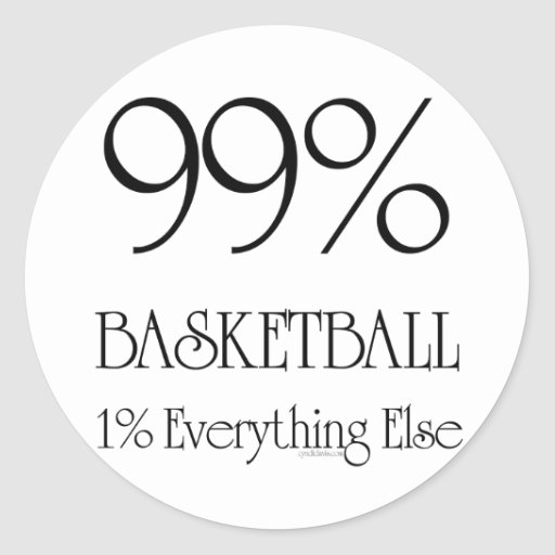 99% Basketball Classic Round Sticker