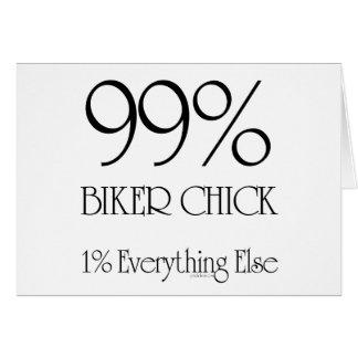 99% Biker Chick Greeting Card