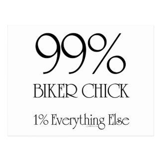 99% Biker Chick Postcard