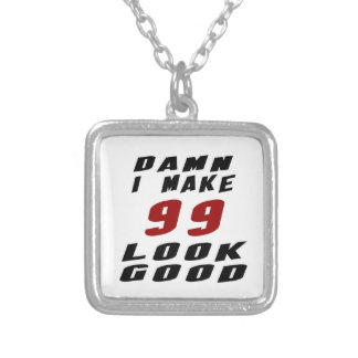99 Birthday Designs Silver Plated Necklace