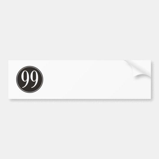 #99 Black Circle Bumper Sticker
