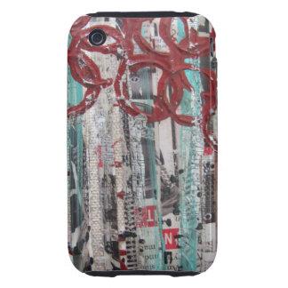 99 blancos y negros rojos de la aguamarina tough iPhone 3 fundas