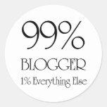 99% Blogger Round Sticker