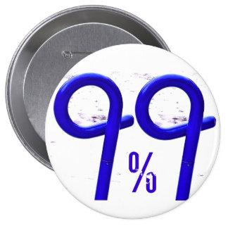 99% BLUE 4 INCH ROUND BUTTON
