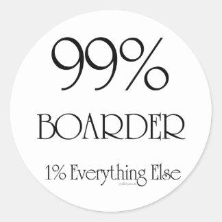 99% Boarder Classic Round Sticker