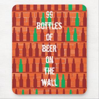 99 botellas de cerveza en la pared tapete de ratones