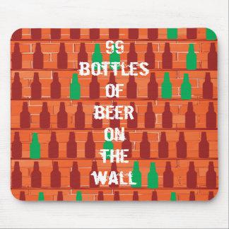 99 botellas de cerveza en la pared alfombrillas de raton