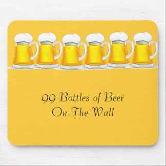 99 Bottles of beer on the wall Mouse Pad