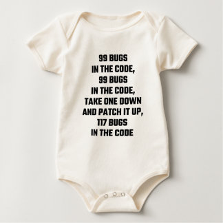 99 Bugs In The Code Baby Bodysuits