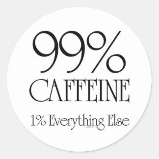 99% Caffeine Classic Round Sticker