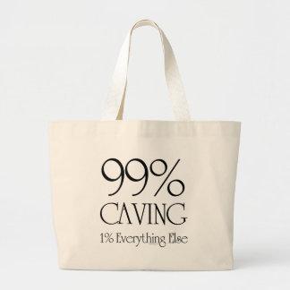 99% Caving Large Tote Bag