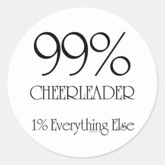 99% Cheerleader Classic Round Sticker