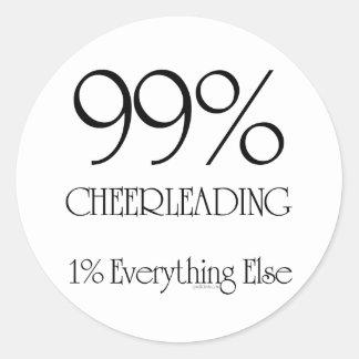 99% Cheerleading Round Stickers