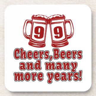 99 Cheers Beer Birthday Beverage Coaster