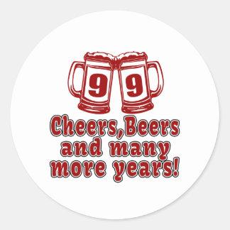 99 Cheers Beer Birthday Classic Round Sticker