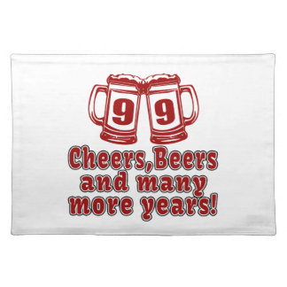99 Cheers Beer Birthday Cloth Placemat