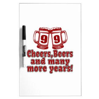 99 Cheers Beer Birthday Dry-Erase Board