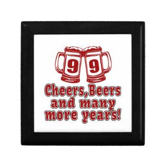 99 Cheers Beer Birthday Jewelry Box