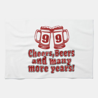 99 Cheers Beer Birthday Kitchen Towel