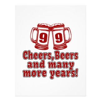 99 Cheers Beer Birthday Letterhead