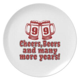 99 Cheers Beer Birthday Melamine Plate