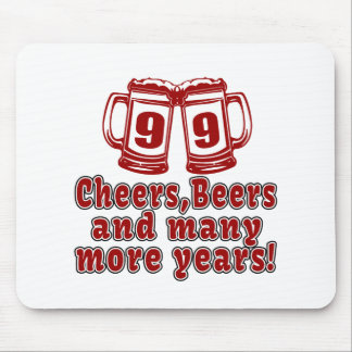 99 Cheers Beer Birthday Mouse Pad