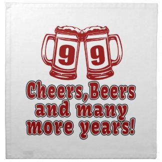 99 Cheers Beer Birthday Napkin