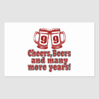 99 Cheers Beer Birthday Rectangular Sticker