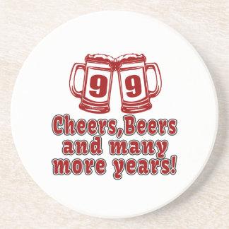 99 Cheers Beer Birthday Sandstone Coaster