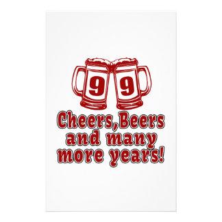 99 Cheers Beer Birthday Stationery