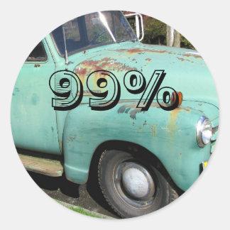 99% CLASSIC ROUND STICKER