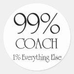 99% Coach Round Sticker