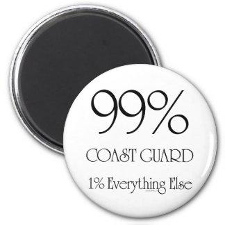 99% Coast Guard 2 Inch Round Magnet