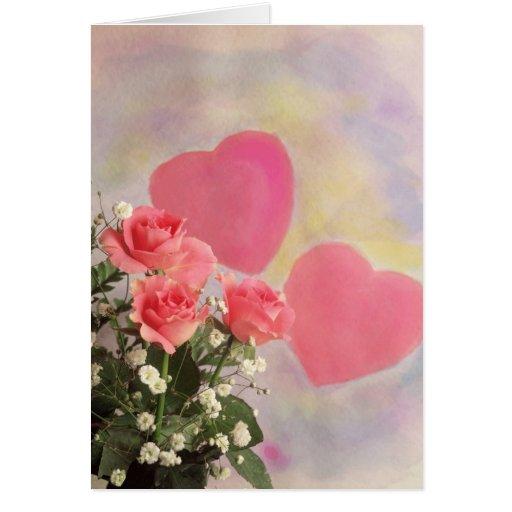 99 corazones y flores del milagro felicitacion