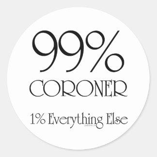 99% Coroner Classic Round Sticker