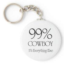 99% Cowboy Keychain