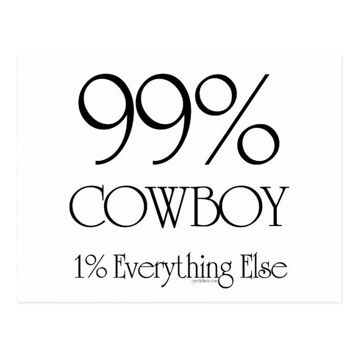 99% Cowboy Postcard