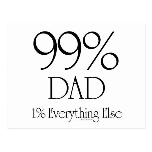 99% Dad Postcard