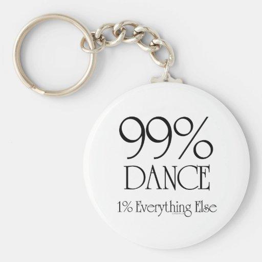 99% Dance Basic Round Button Keychain