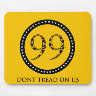 99% Dont tread on US rattlesnake flag Mouse Pad
