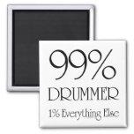 99% Drummer 2 Inch Square Magnet