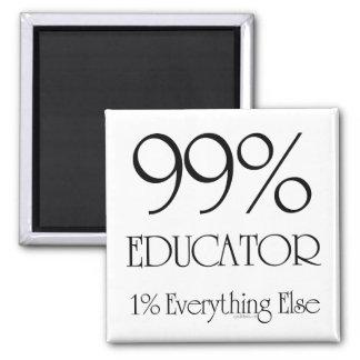 99% Educator 2 Inch Square Magnet
