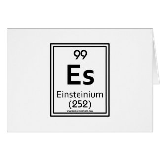 99 Einsteinium Card