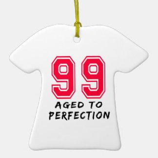 99 envejeció al diseño del cumpleaños de la perfec adorno