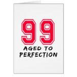 99 envejeció al diseño del cumpleaños de la perfec felicitacion